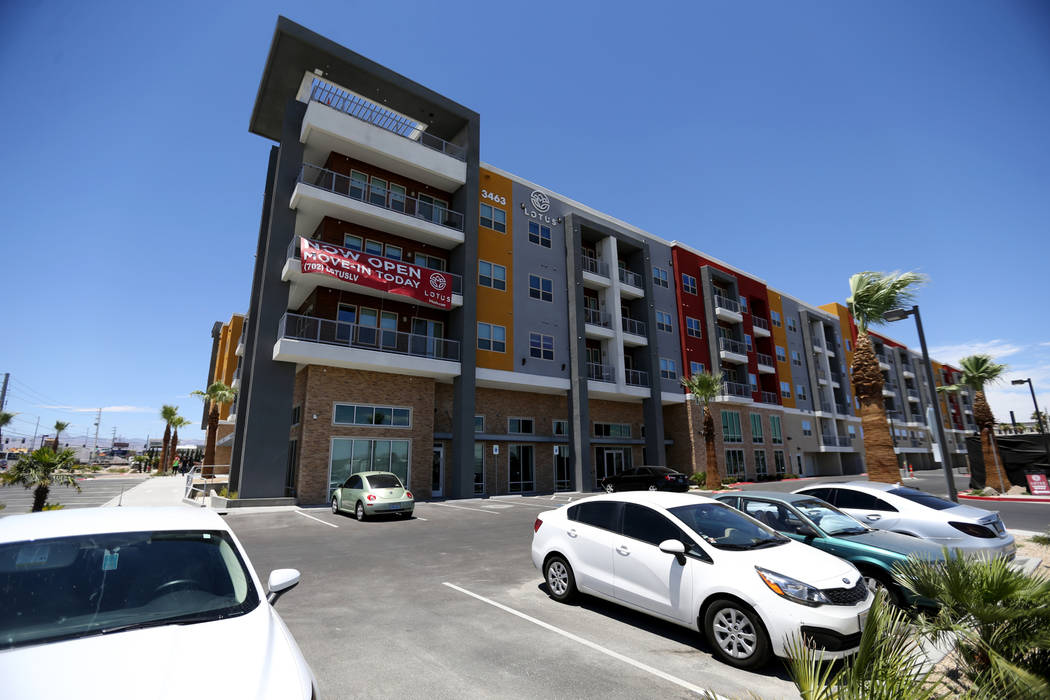 Lotus apartment complex on Spring Mountain Road near Valley View Boulevard Monday, May 25, 2018. K.M. Cannon Las Vegas Review-Journal @KMCannonPhoto