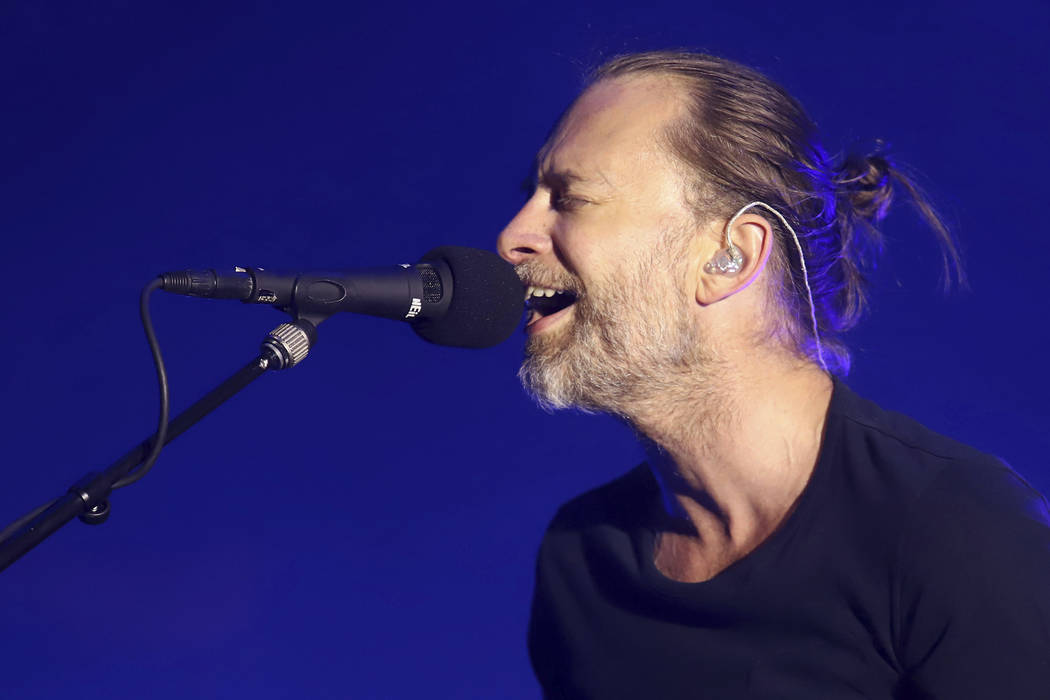 Thom Yorke of Radiohead performs in concert at Madison Square Garden on Tuesday, July 10, 2018, in New York. (Photo by Greg Allen/Invision/AP)