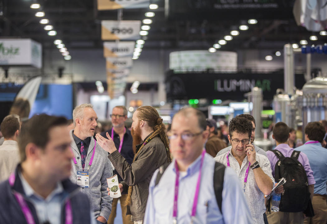 The expo floor is packed during MJBizCon on Wednesday, November 14, 2018, at the Las Vegas Convention Center, in Las Vegas. Benjamin Hager Las Vegas Review-Journal