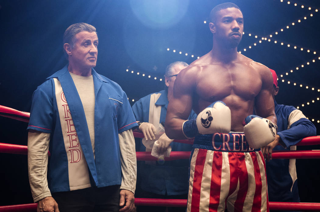 C2_01193_R Sylvester Stallone stars as Rocky Balboa and Michael B. Jordan as Adonis Creed and in CREED II, a Metro Goldwyn Mayer Pictures and Warner Bros. Pictures film. Credit: Barry Wetcher / Me ...