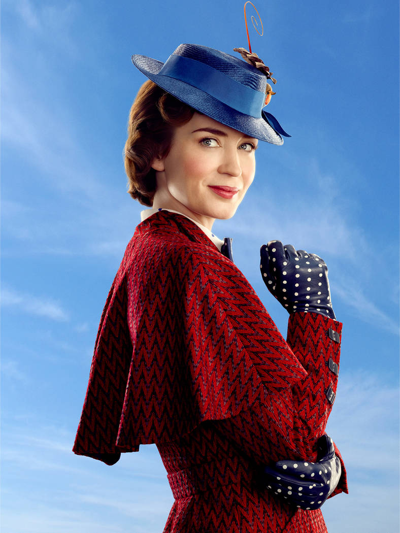 Mary Poppins (Emily Blunt) in Disney's original musical MARY POPPINS RETURNS, a sequel to the 1964 MARY POPPINS which takes audiences on an entirely new adventure with the practically perfect nann ...