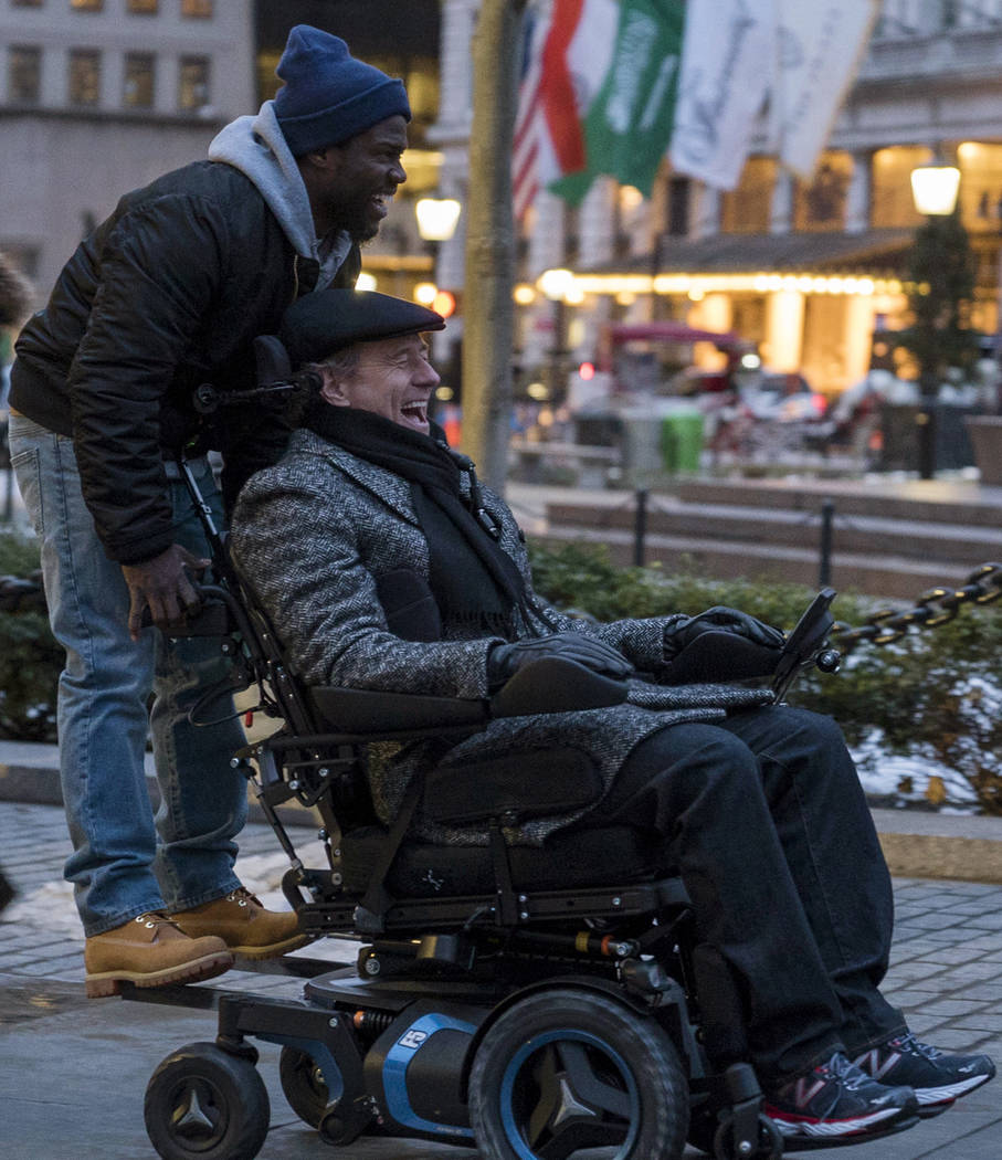 Kevin Hart and Bryan Cranston star in THE UPSIDE. Credit: David Lee. Courtesy of STXfilms