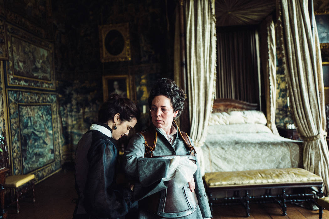 Rachel Weisz and Olivia Colman in the film THE FAVOURITE. Photo by Yorgos Lanthimos.© 2018 Twentieth Century Fox Film Corporation All Rights Reserved