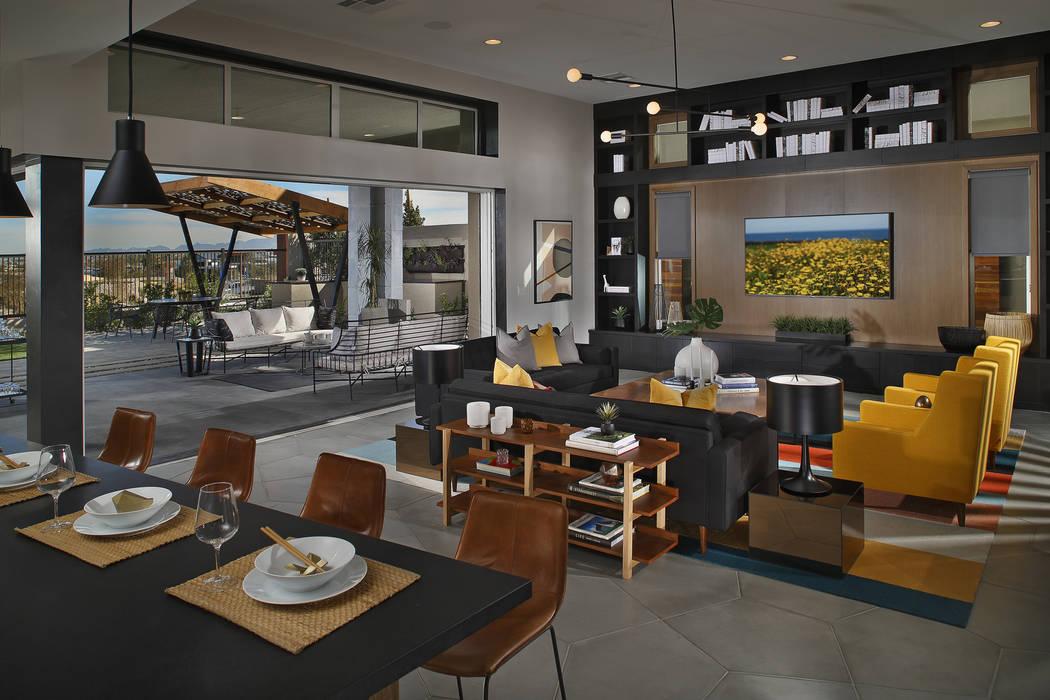 Indoor-outdoor living features is a design element in Pardee Homes' floor plans at Nova Ridge in Summerlin. (Pardee Homes)