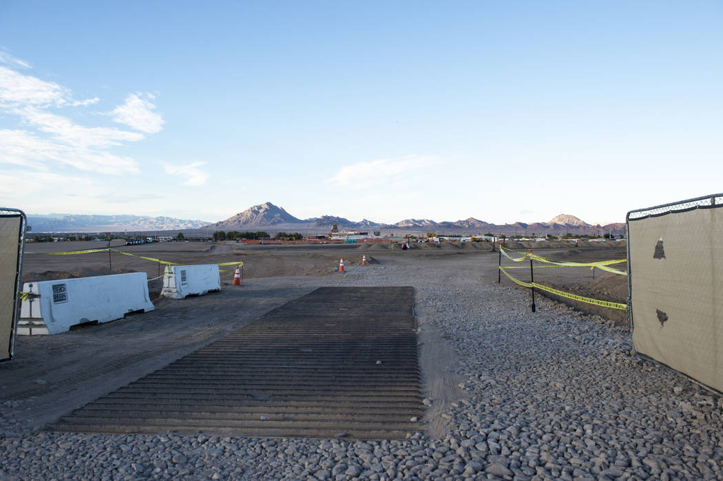 A lot that is a proposed space to build a data center for Google in Las Vegas, Monday, Oct. 8, 2018. Caroline Brehman/Las Vegas Review-Journal @carolinebrehman