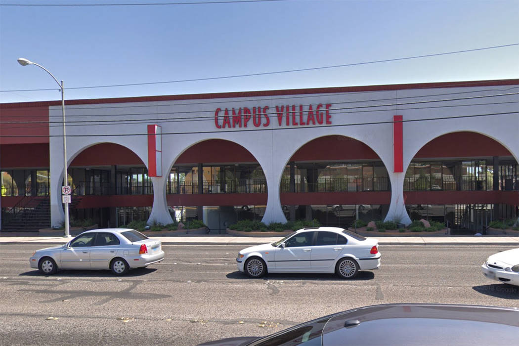 Campus Village Shopping Center on South Maryland Parkway in Las Vegas in seen in this screenshot. (Google)