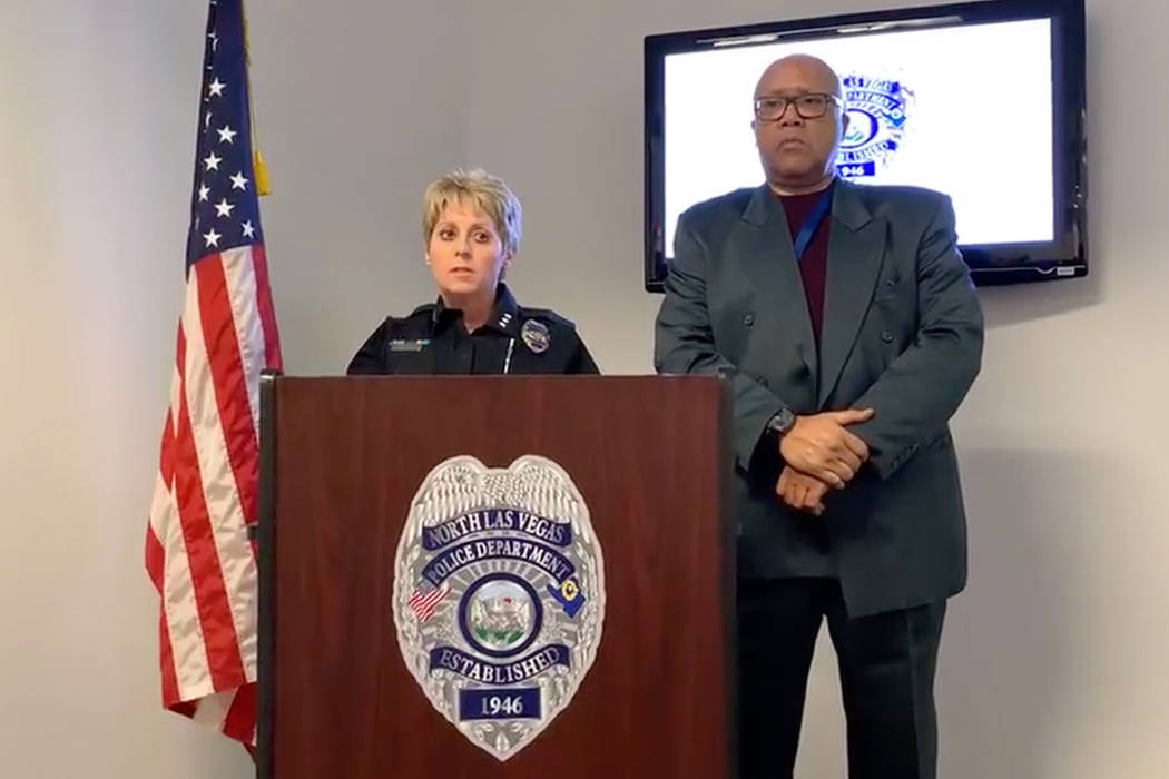 North Las Vegas Assistant Chief Pam Ojeda speaks at a news conference on Nov. 5, 2018. Ojeda has been appointed police chief for the city. (Harrison Keely/Las Vegas Review-Journal)