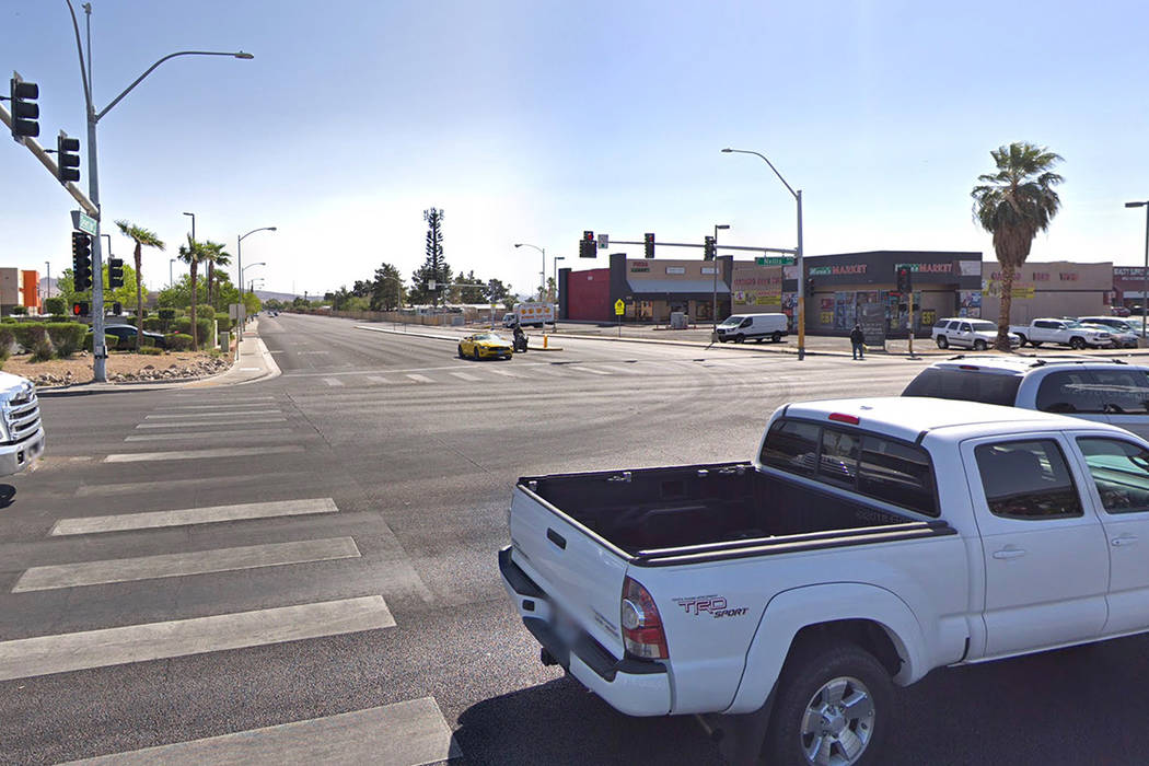 Desert Inn Road and Nellis Boulevard is pictured in this Google Street View photo.