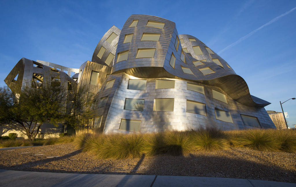 The Cleveland Clinic Lou Ruvo Center for Brain Health, designed by architect Frank Gehry, is in downtown Las Vegas. (Chase Stevens/Las Vegas Review-Journal) @csstevensphoto