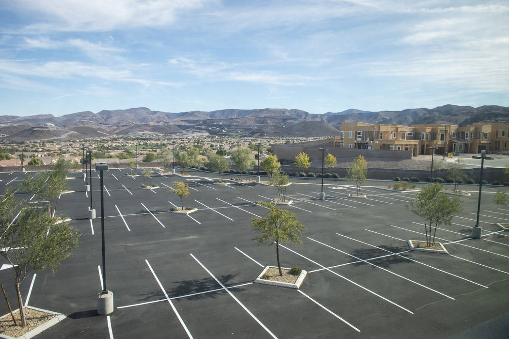 A view from the second story of one the properties recently purchased by Nigro Development in the Coronado Canyons retail center in Henderson, Tuesday, Nov. 13, 2018. Caroline Brehman/Las Vegas Re ...