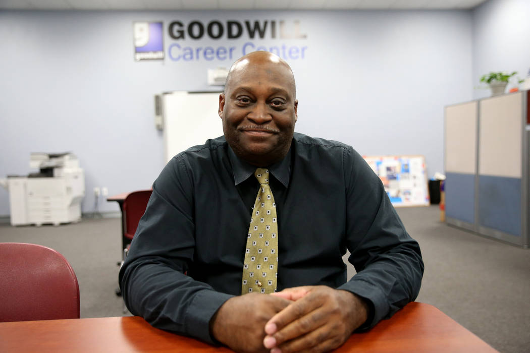 Veteran Outreach Coordinator Ernest Smith at Goodwill's veteran career center at 741 S. Rainbow Dr. in Las Vegas, Friday, Nov. 16, 2018. The center, which opened on Wednesday inside the Goodwill s ...