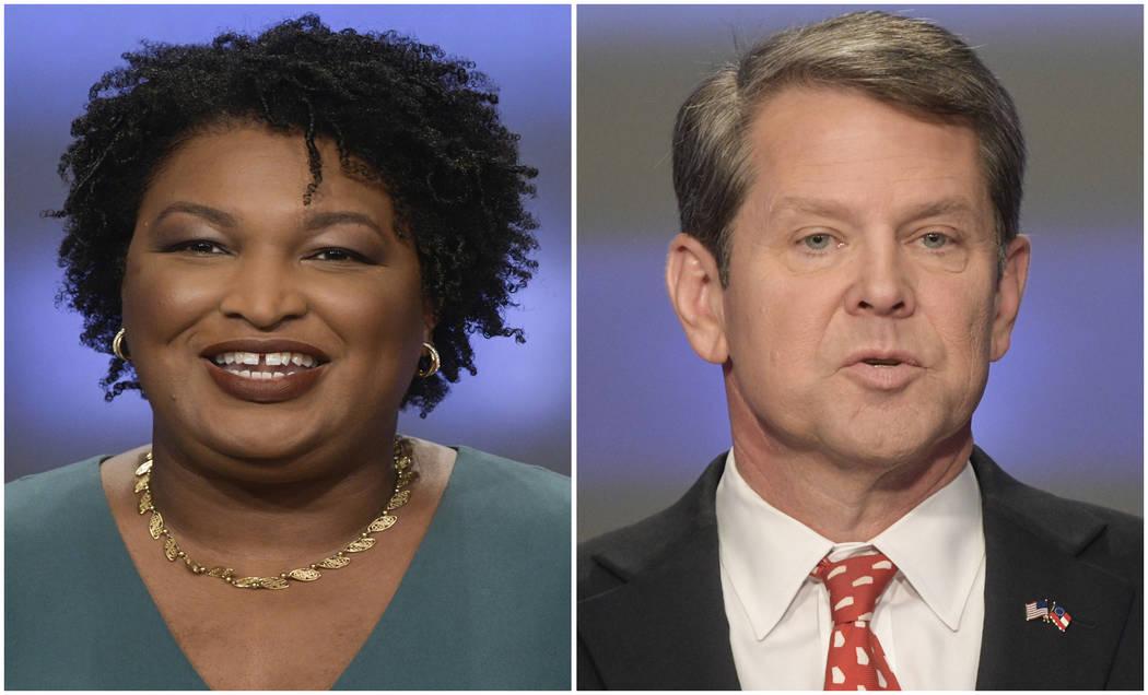 Georgia gubernatorial candidates Stacey Abrams and Brian Kemp. (John Amis/AP, File)