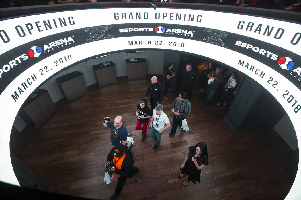 Gaming fans arrive for the grand opening of Esports Arena Las Vegas at the Luxor in Las Vegas on Thursday, March 22, 2018. Chase Stevens Las Vegas Review-Journal @csstevensphoto