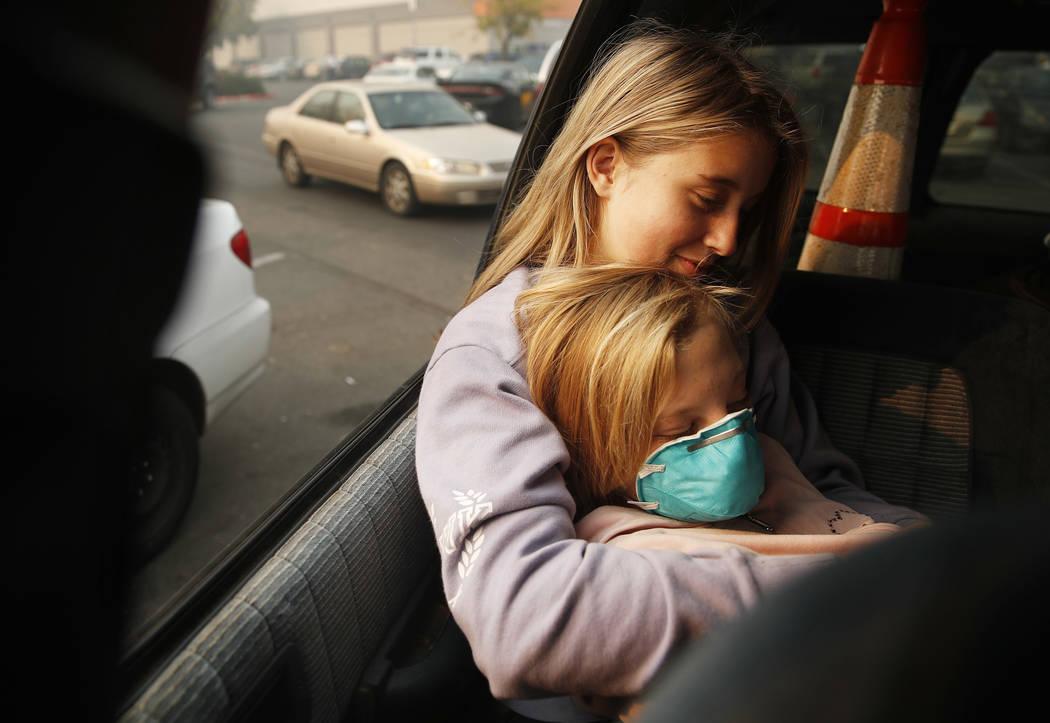 Dakota Keltner Right Rests On Havyn Cargill Morris In A Truck At