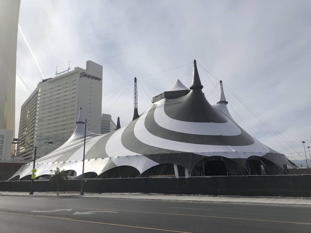 "The ""Celestial"" tent is shown at the Stratosphere on Friday, Nov. 16, 2018. (John Katsilometes/Las Vegas Review-Journal) @JohnnyKats"