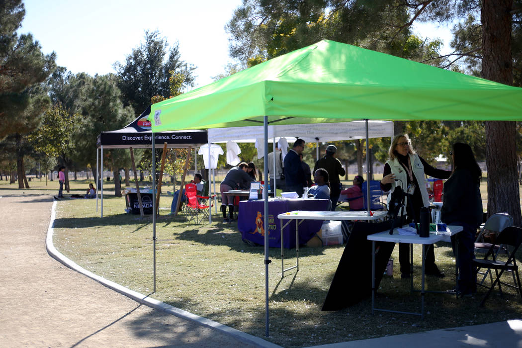 Migratory Bird Day at Sunset Park in Las Vegas, Sunday, Nov. 18, 2018. Different organizations offered activities for kids and adults to learn about birds and celebrate their migration journey. Ra ...