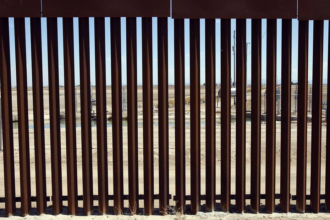 A section of the U.S.-Mexico border fence looking North into the United States is seen between Yuma and San Luis Arizona Tuesday, Aug. 24, 2010. The fence was designed to allow border patrol agent ...