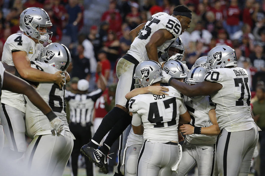0974c65c Raiders rely on rookies to beat Cardinals 23-21 | Las Vegas Review ...
