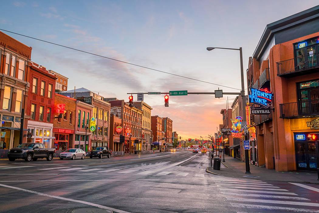 The Lower Broadway area is seen in Nashville, Tenn., in 2016. (Thinkstock)