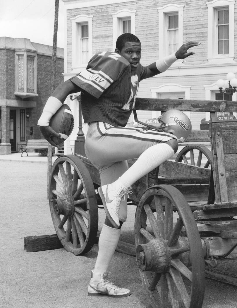 UNLV Rebels quarterback/punter Randall Cunningham (12) poses in this undated file photo. (Review-Journal File)
