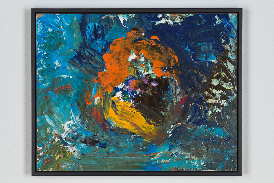 Barbicon (1993) by Charles Cough; enamel on Masonite. The Dorothy and Herbert Vogel Collection: Fifty Works for Fifty Sates at the UNLV Marjorie Barrick Museum of Art. (Checko Salgado/Focalchrome) ...