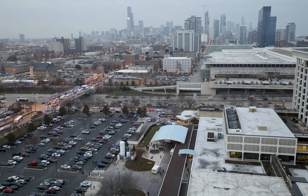 A shooting at a Chicago hospital has wounded multiple people, including a suspect and a police officer, authorities said. Shots were fired Monday, Nov. 19, 2018, at Mercy Hospital on the city's So ...