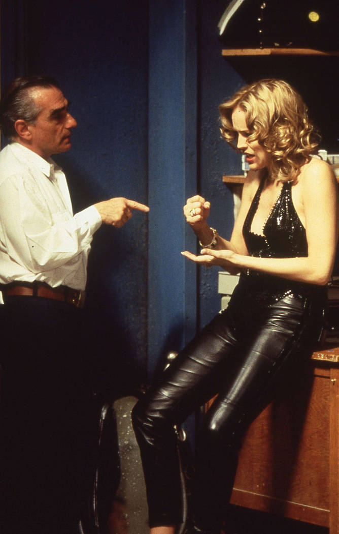 Casino director/co-writer Martin Scorsese with star Sharon Stone. (Universal City Studios, Inc.)