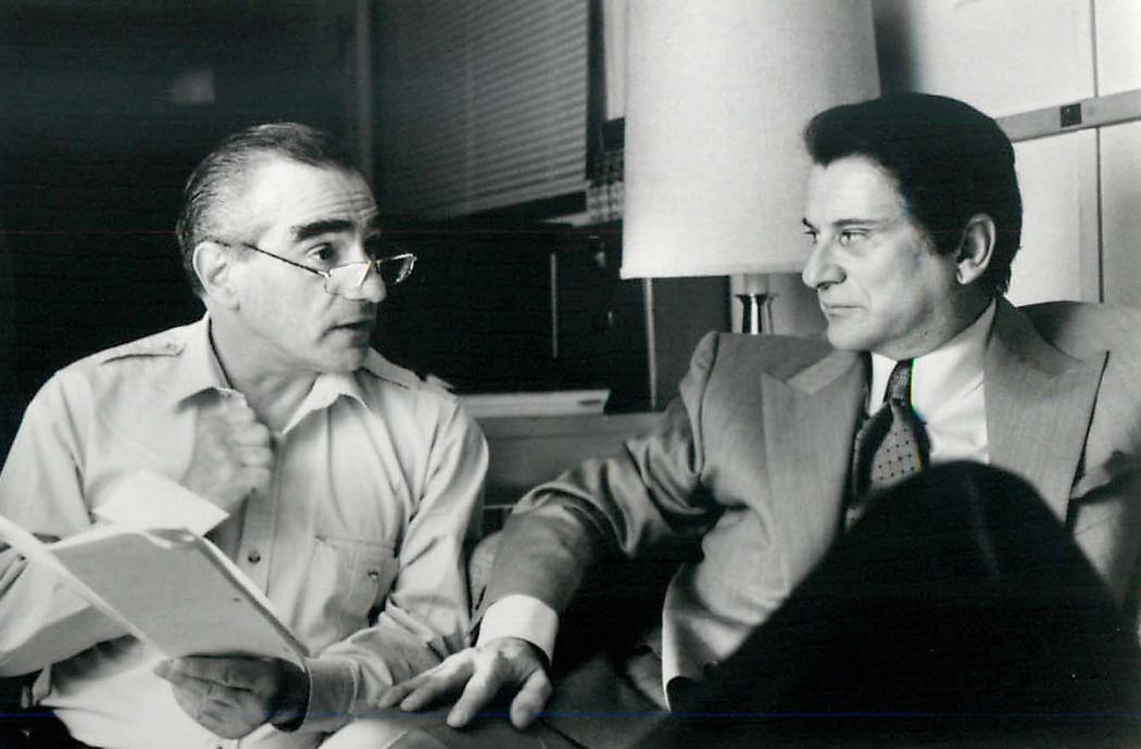 "Martin Scorsese with ""Casino"" co-star Joe Pesci. (Phil Caruso/Universal Pictures)"
