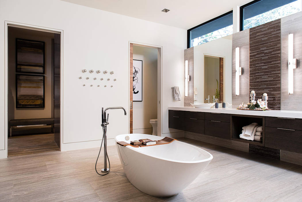The master bath is large and modern. (Studio g Architecture)