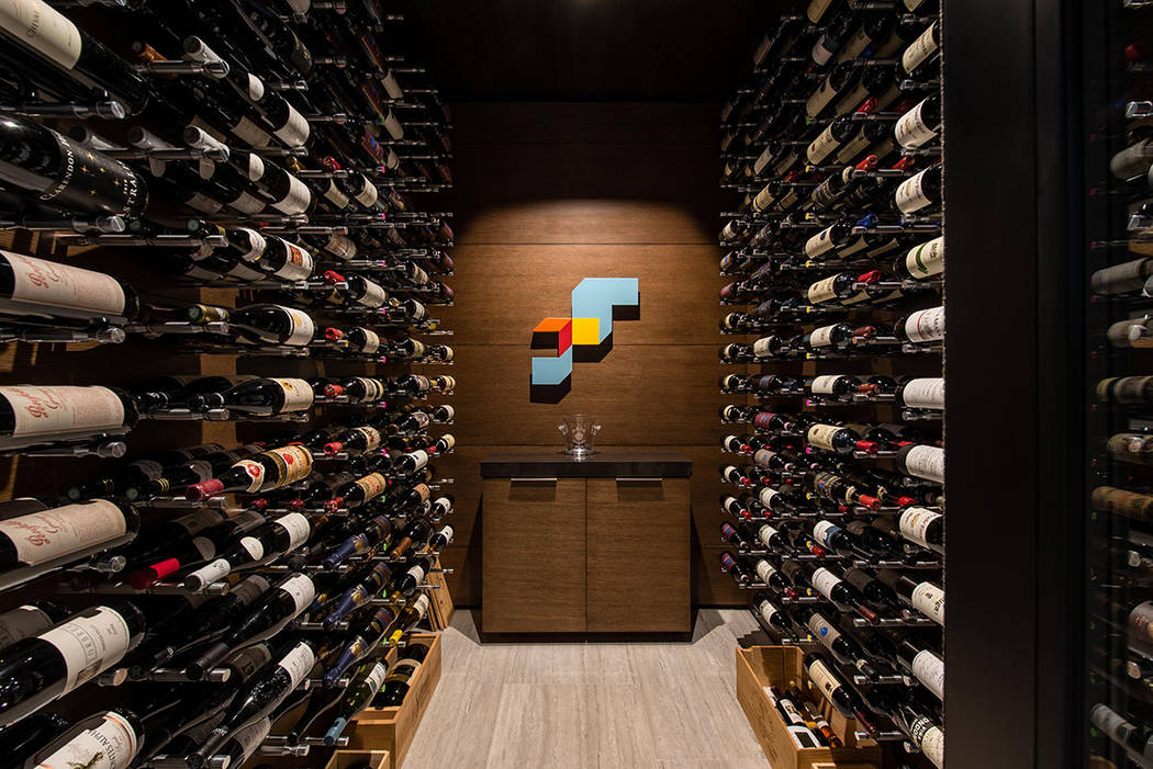 The wine room. (Studio g Architecture)