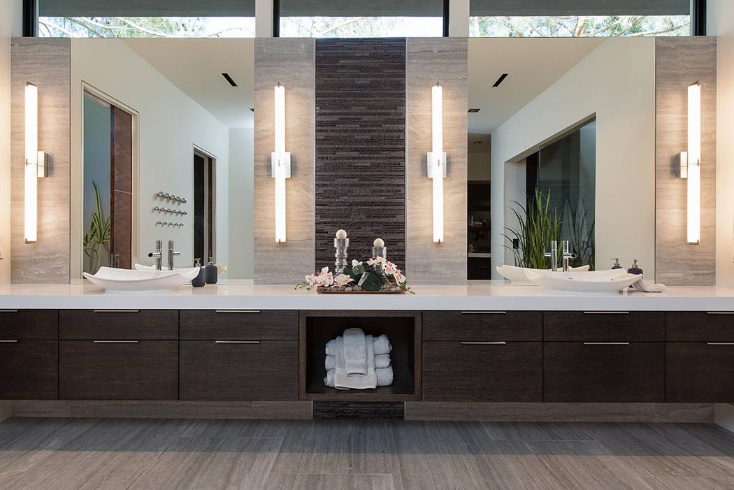 The master bath has two vanities. (Studio g Architecture)