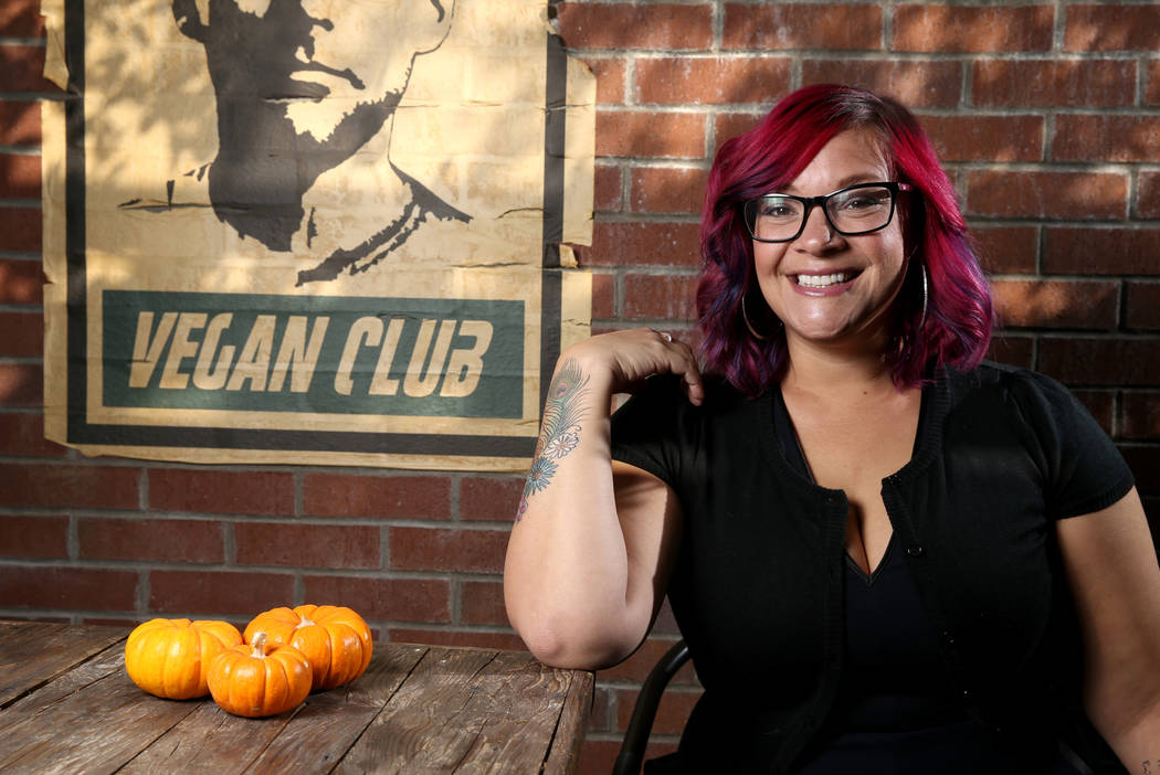Diana Edelman, founder of Vegans, Baby, at VegeNation in downtown Las Vegas Wednesday, Nov. 21, 2018. K.M. Cannon Las Vegas Review-Journal @KMCannonPhoto