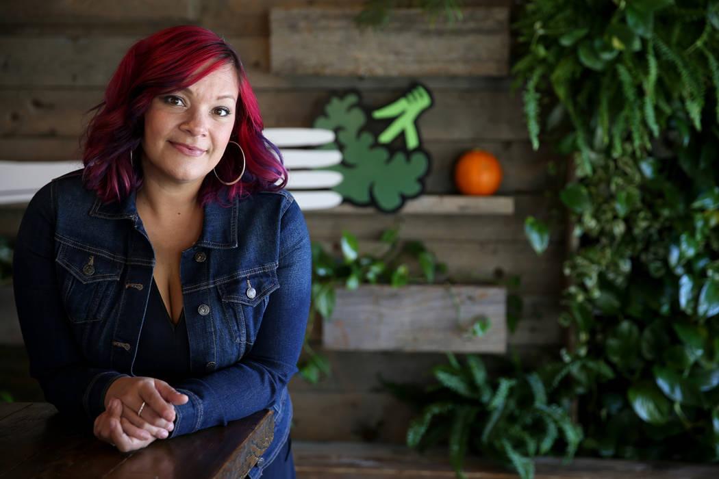 Diana Edelman, founder of Vegans, Baby, at VegeNation in downtown Las Vegas Wednesday, Nov. 21, 2018. K.M. Cannon Las Vegas Review-Journal @KMCannonPhoto
