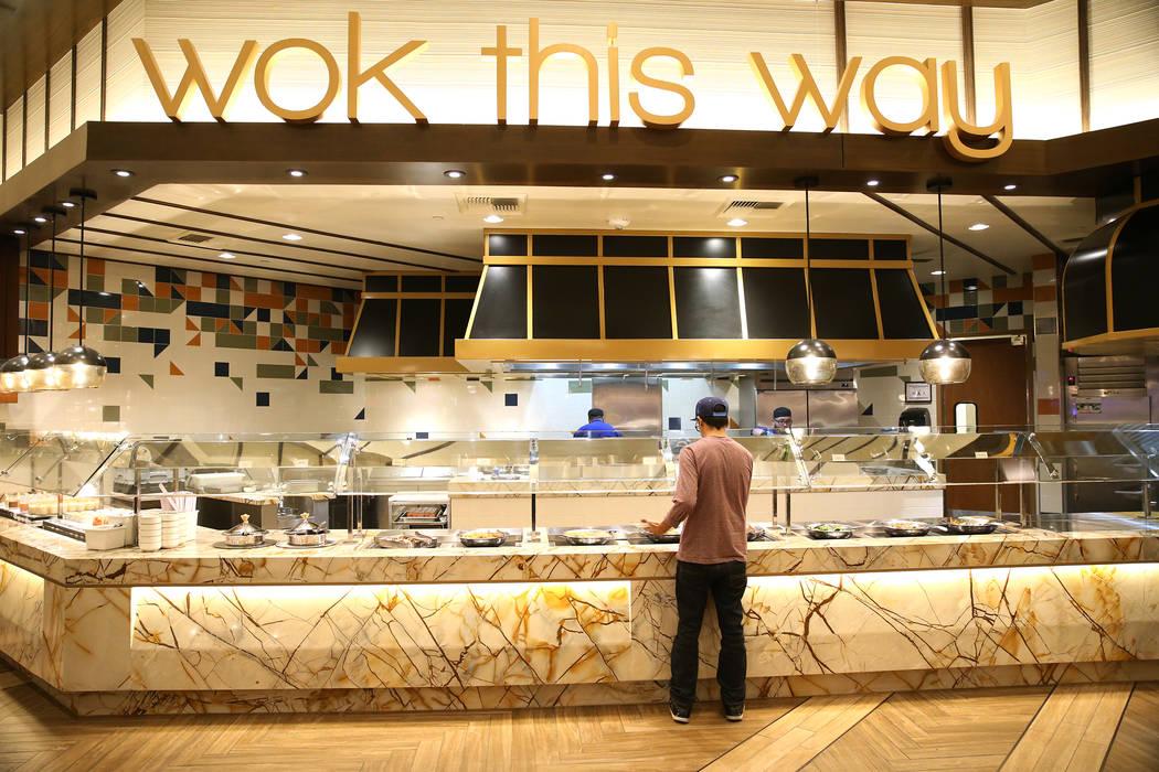 A food station at the Feast Buffet at the Station Casino hotel-casino in Las Vegas, Wednesday, Oct. 3, 2018. Erik Verduzco Las Vegas Review-Journal @Erik_Verduzco