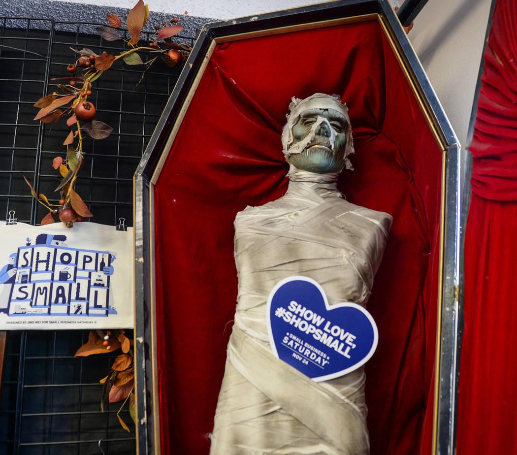 A mummy figure is on sale inside Main Street Peddler Antique Mall in Las Vegas, Wednesday, Nov. 21, 2018. Caroline Brehman/Las Vegas Review-Journal
