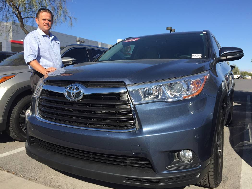 Veteran automobile sales consultant Doron Bodinger is a big believer in the Toyota certified pre-owned vehicle program that is highlighted at Findlay Toyota in the Valley Automall. (Findlay