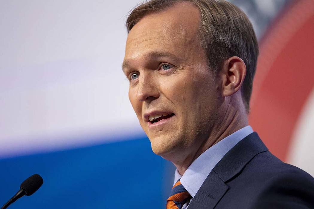 Salt Lake County Mayor Ben McAdams answers a question on October 15 as he and U.S. Rep. Mia Love participate in a debate in Sandy, Utah, as the two battle for Utah's 4th Congressional District. (S ...