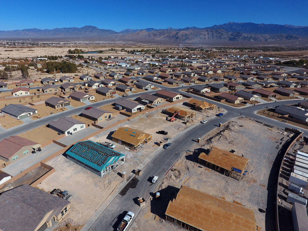 Aerial view of Burson Ranch on Thursday, Nov. 15, 2018, in Pahrump, where developers have restarted the rural housing project. Michael Quine/Las Vegas Review-Journal.com @Vegas88s