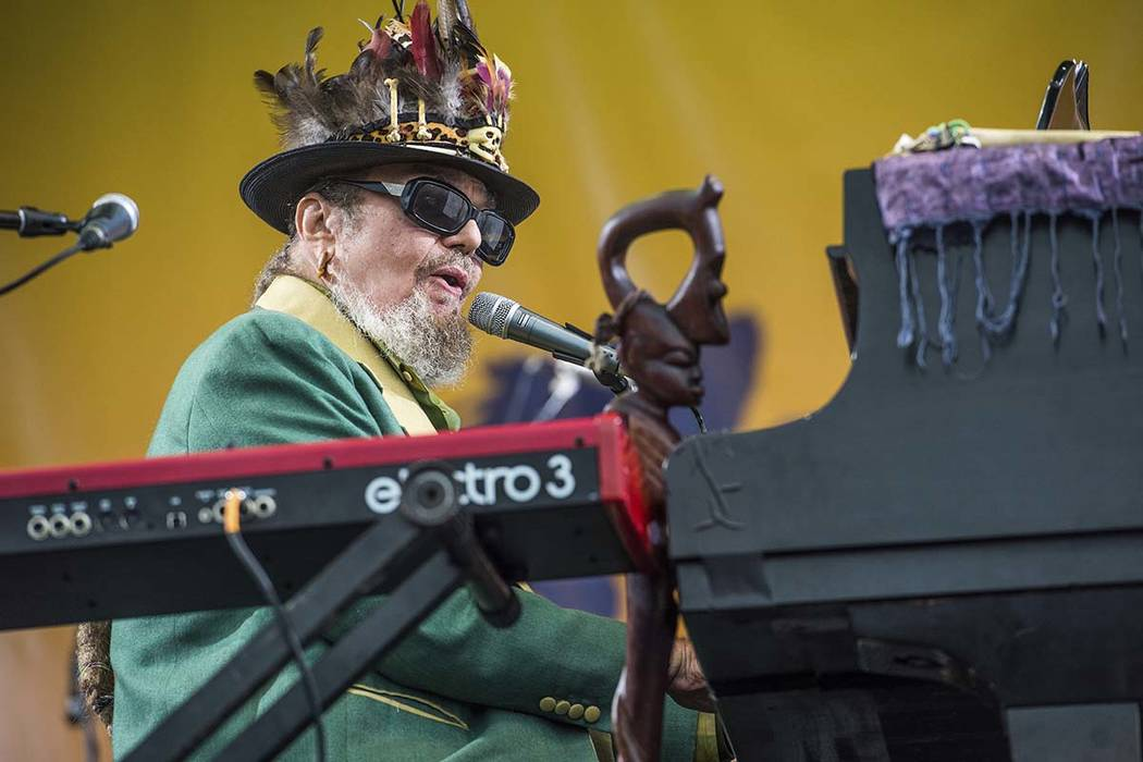 In this April 30, 2017 file photo, Dr. John performs at the New Orleans Jazz and Heritage Festival in New Orleans. (Amy Harris/Invision/AP, File)