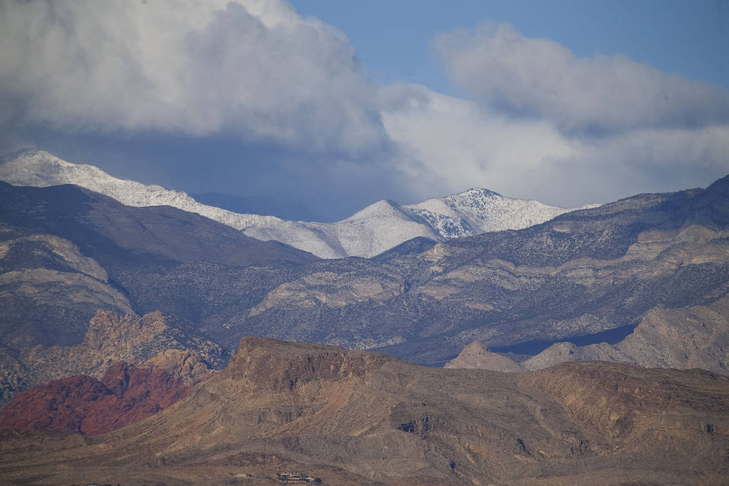An overnight winter weather advisory in the spring mountains expired about 8:30 a.m. Thursday, with some elevations reaching up to 10 inches of snowfall. Richard Brian Las Vegas Review-Journal @ve ...