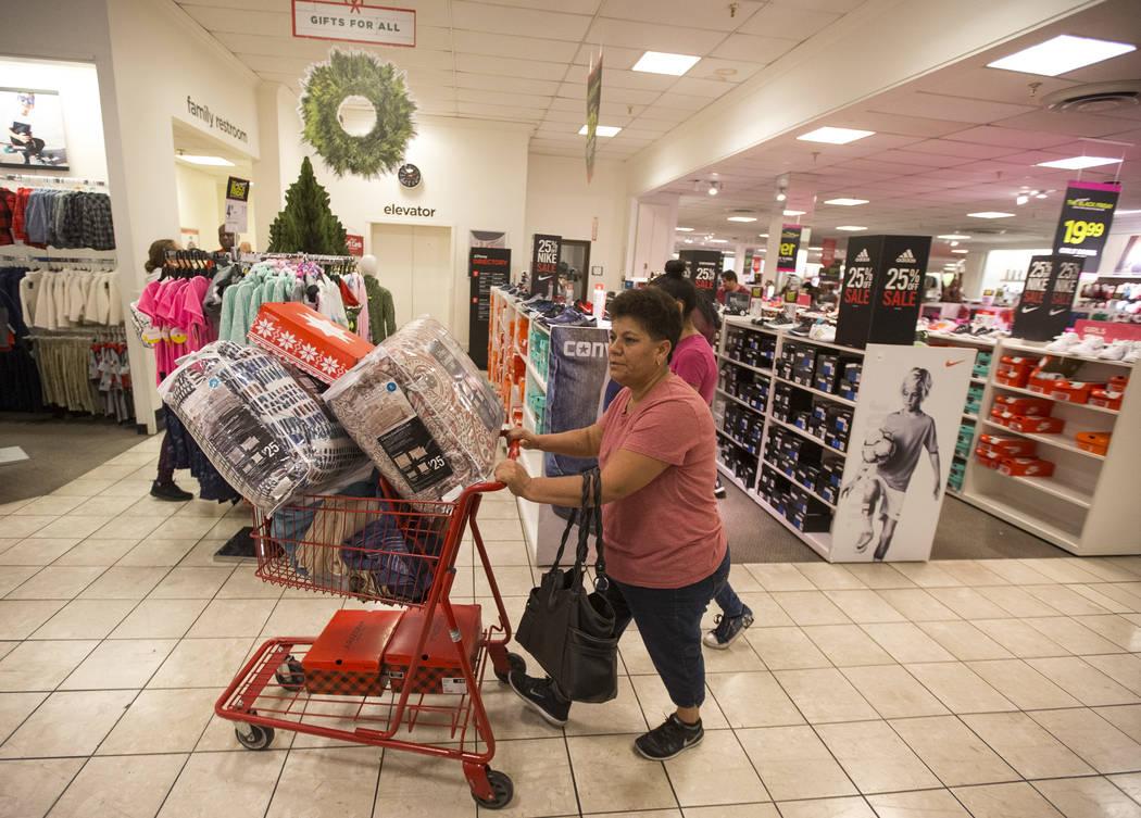 Las Vegas resident Rosa Robles shops for early Black Friday deals at J.C. Penney at the Meadows Mall in Las Vegas, Thursday, Nov. 22, 2018. Richard Brian Las Vegas Review-Journal @vegasphotograph