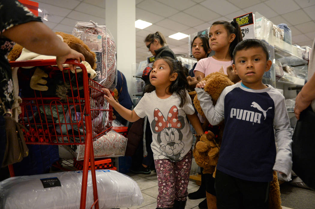 Customers crowd the J.C. Penney at the Meadows Mall as they hunt for Black Friday deals on Thanksgiving in Las Vegas, Thursday, Nov. 22, 2018. Caroline Brehman/Las Vegas Review-Journal