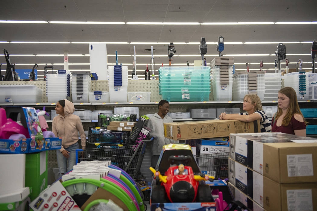 Customers shop during an early Black Friday sale at a Walmart store on Thanksgiving in Las Vegas, Thursday, Nov. 22, 2018. Caroline Brehman/Las Vegas Review-Journal