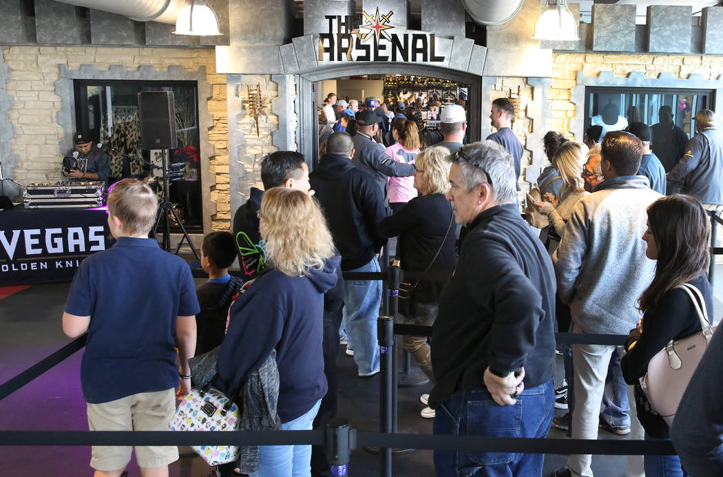 c7d64e01bd5f6 Black Friday sale shoppers lined up at the Arsenal retail store at the City  National Arena