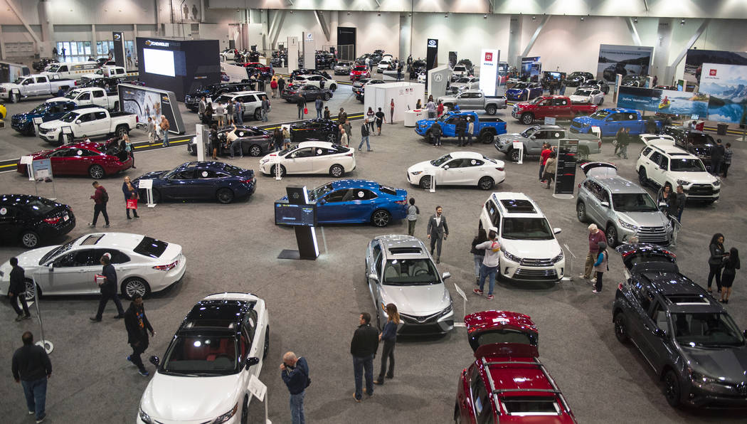 Over 350 cars are on display at the 2019-Model Motor Trend International Auto Show at the Las Vegas Convention Center in Las Vegas, Sunday, Nov. 25, 2018. Caroline Brehman/Las Vegas Review-Journal