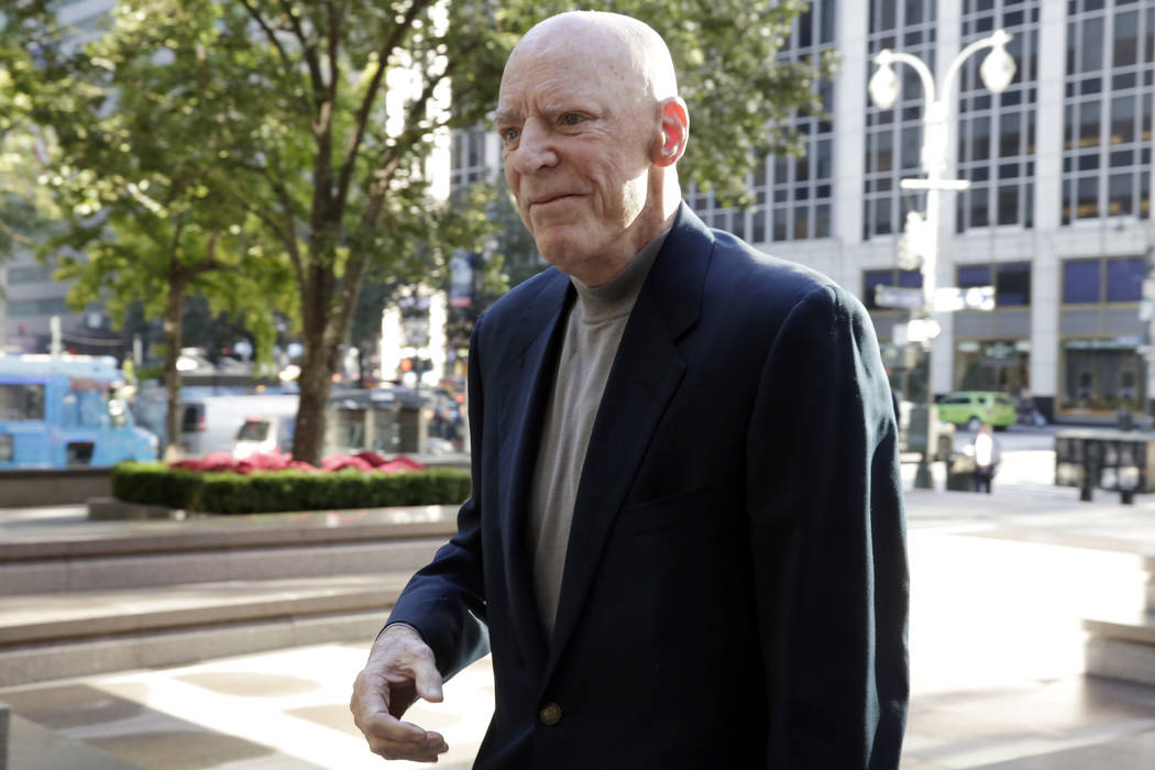 """In this Oct. 17, 2017, file photo, Houston Texans NFL football team owner Robert """"Bob"""" McNair arrives for meetings at the league headquarters in New York. McNair, billionaire founder and owner of ..."""