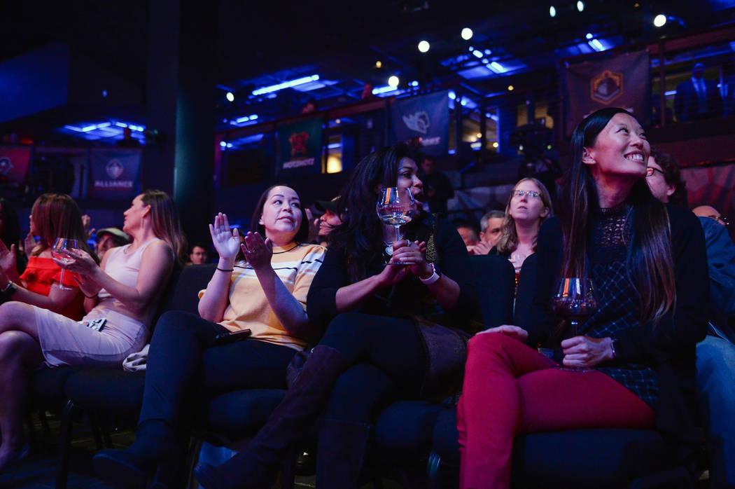 Attendees watch the Alliance of America Football (AAF) Quarterback Draft at the Luxor in Las Vegas, Tuesday, Nov. 27, 2018. Caroline Brehman/Las Vegas Review-Journal