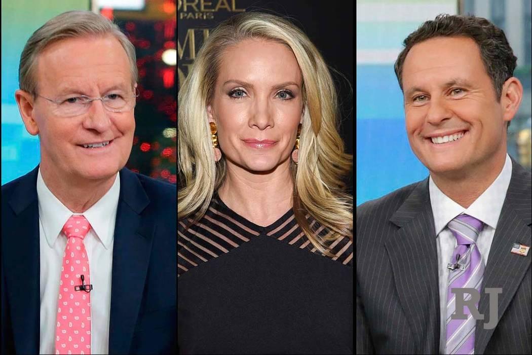 Fox News Channel personalities, from left, Steve Doocy, Dana Perino and Brian Kilmeade. (AP)