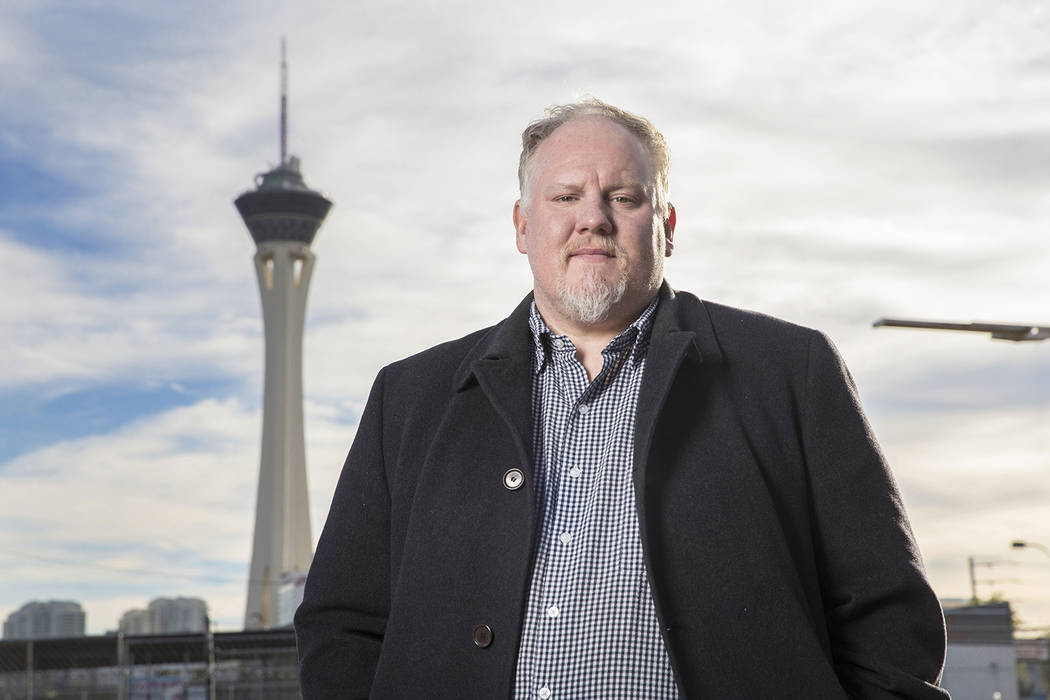 James Trees, chef/owner of Esther's Kitchen, is opening two new restaurants in Tivoli Village and the Stratosphere. Photo taken on Monday, Nov. 26, 2018, outside Esther's Kitchen, in Las Vegas. Be ...