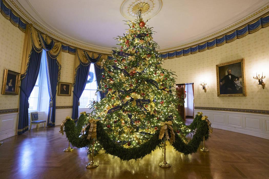 Melania Trump Unveils White House Holiday Display Photos